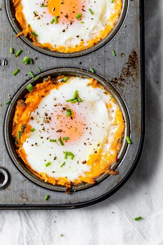 Baked Sweet Potato and Egg Cups